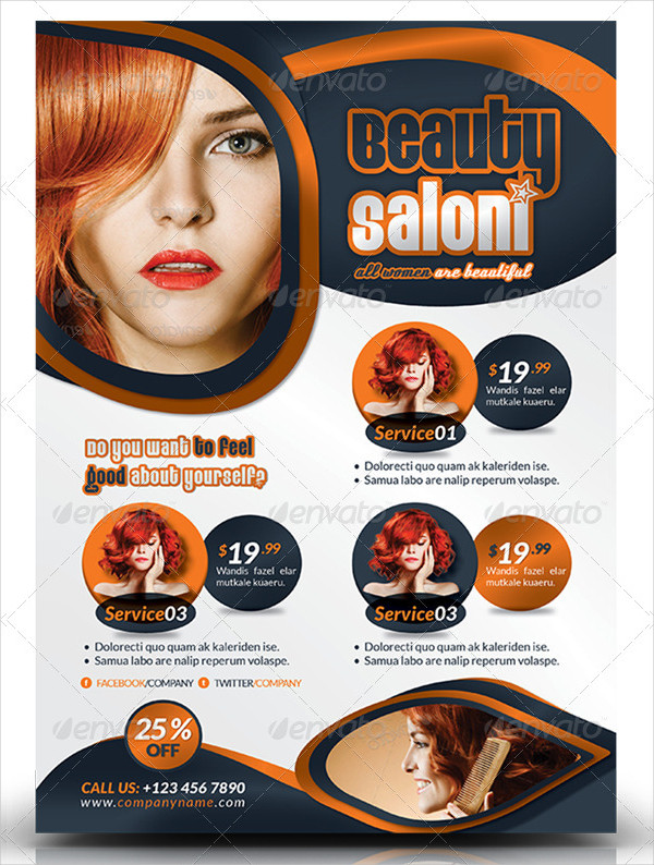 Ready to Print Beauty Salon Template