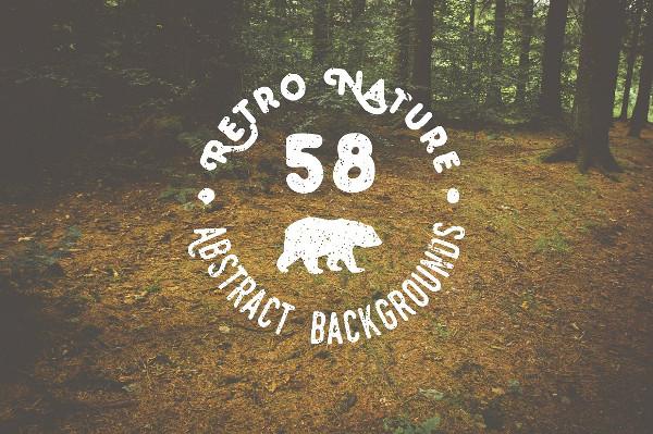 Retro Nature Background