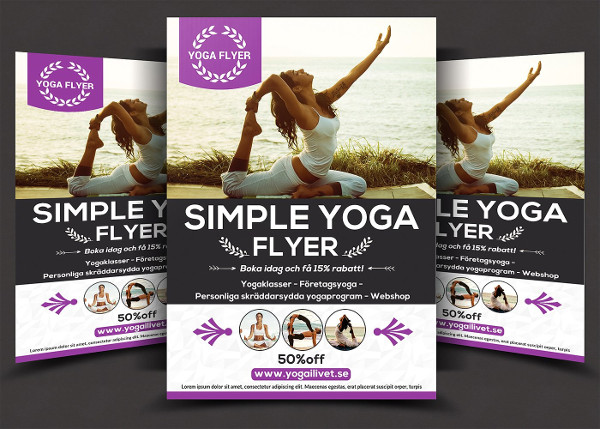 Simple Yoga Flyer Template