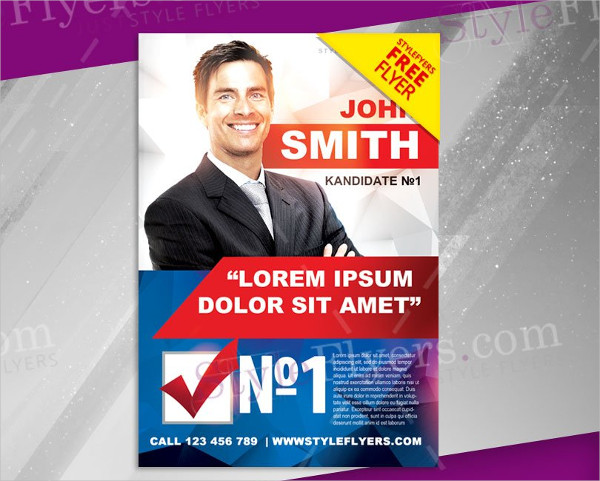 Political Campaign Free PSD Flyer Template