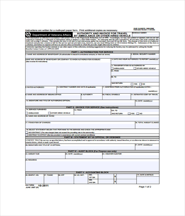 Travel Blank Invoice Template