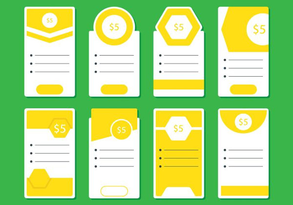 Yellow Price Table Design Free Download
