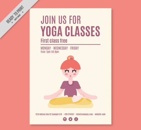 Free Yoga Peaceful Flyer Template