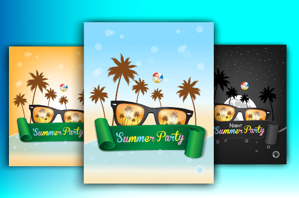 3 Summer Party Posters