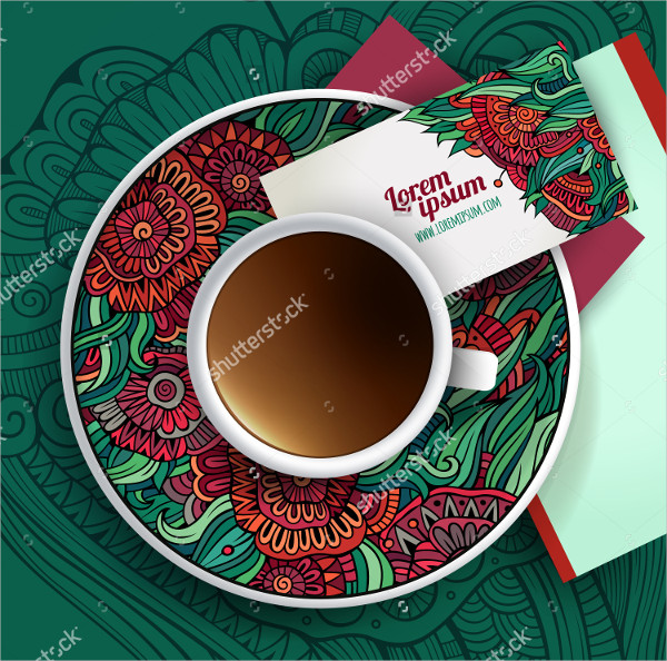 Vector Cup Coffee Business Cards