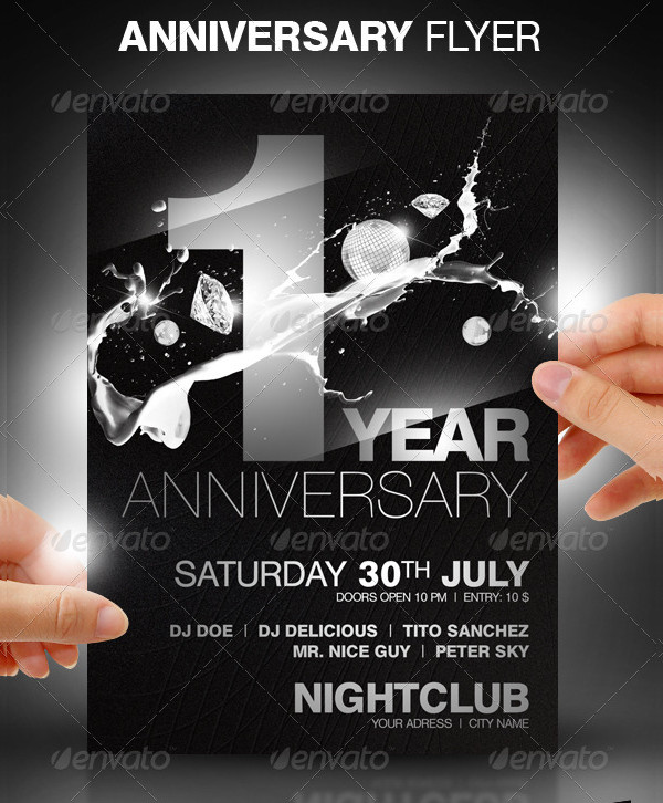 Anniversary Night Club Party Flyer Design