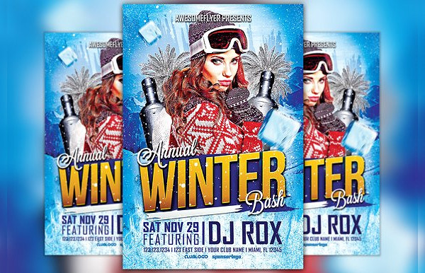 Annual Winter Bash Flyer Template