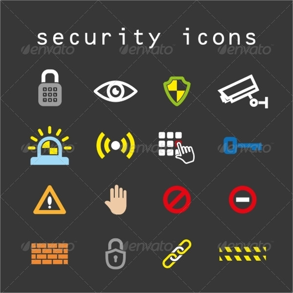 Security Flat Color Icon Vector Set