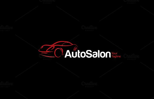 Elegant Car Auto Salon Logo Template