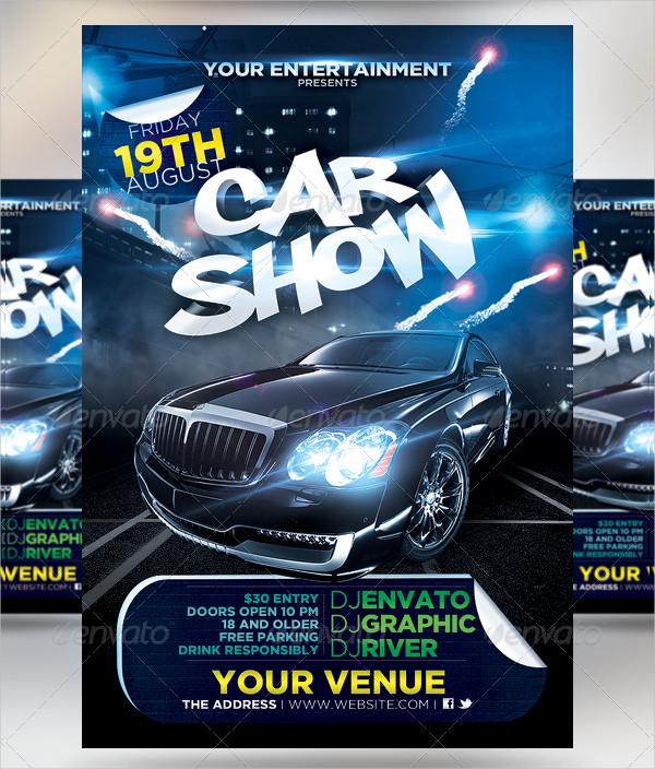 Car & Bike Show Flyer Templates