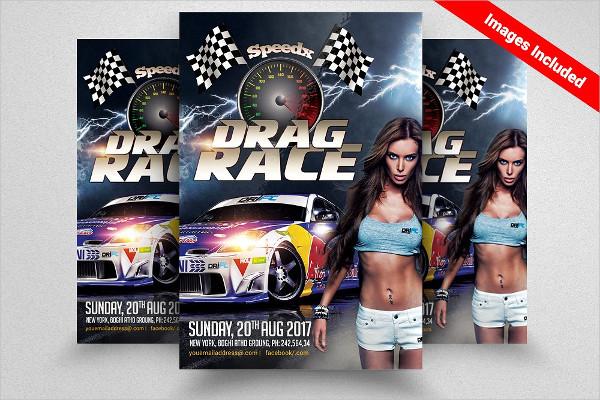 Car Racing Show Flyer Template