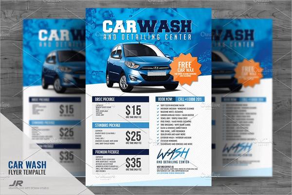 Car Fundraiser Flyer PSD