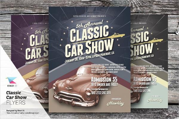 Editable Classic Car Show Flyers