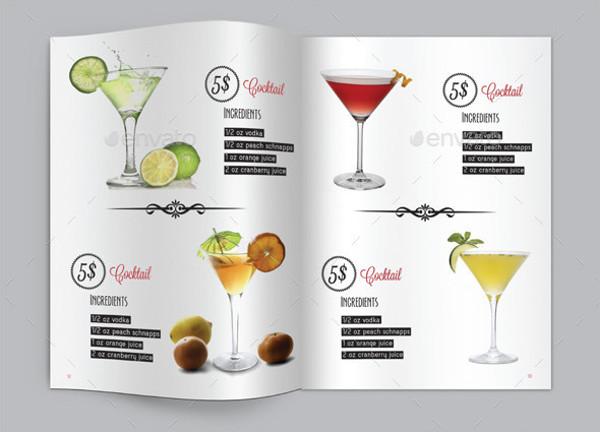 Cocktail Menu Book Template