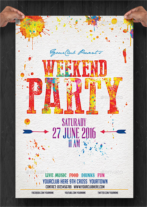 Weekend Cocktail Party Flyer PSD