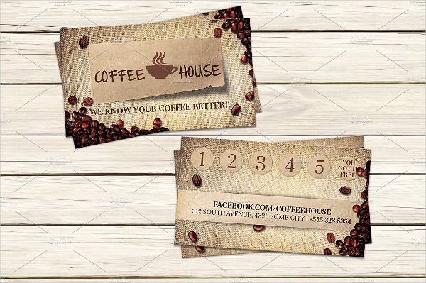 Attractive Coffee Shop Business Card Template