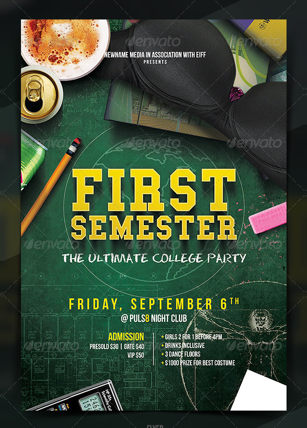 Ultimate College Party Flyer or Poster Template