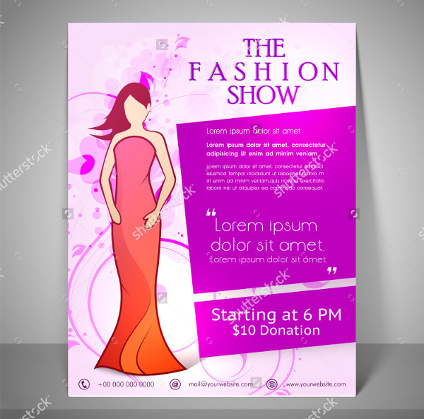 Colourful Fashion Show Flyer Template