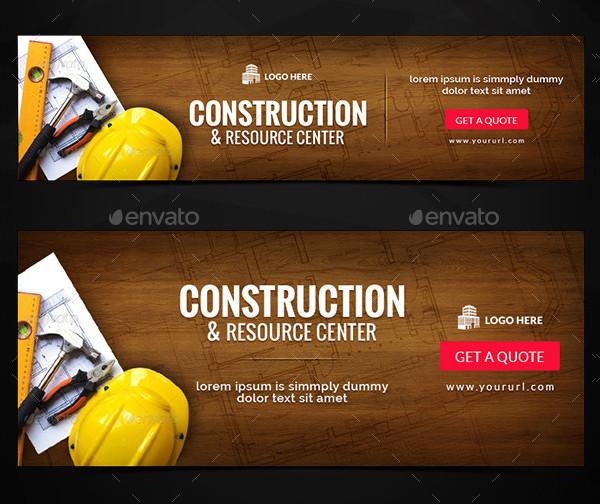 Custom Construction Center Banners