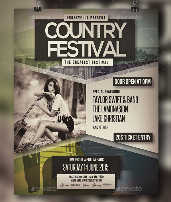 Country Club Event Poster Design