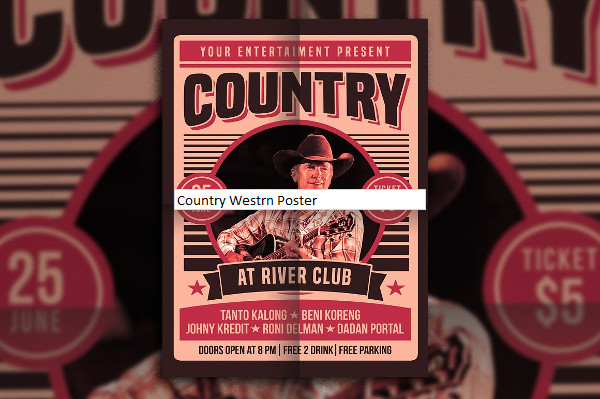 Country Westrn Poster