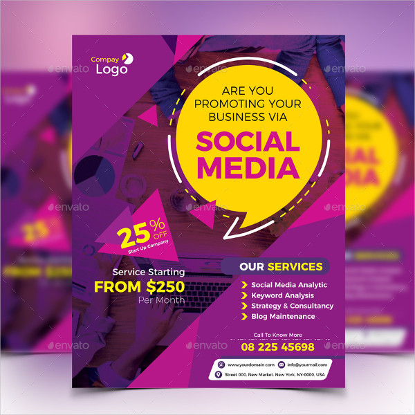 Creative Social Media Marketing Flyer Design