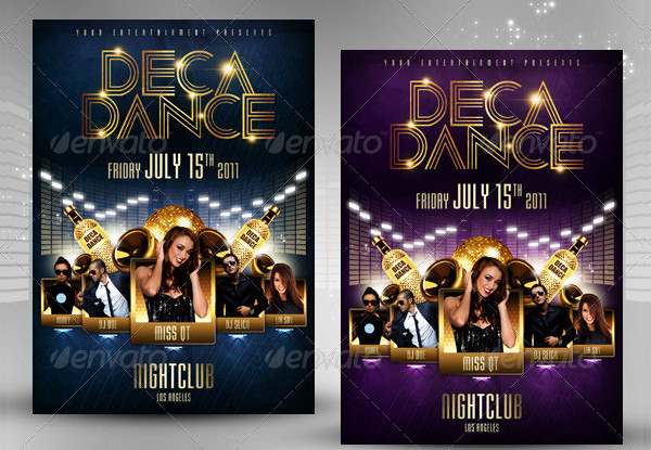 Deca Dance Party Flyer Design