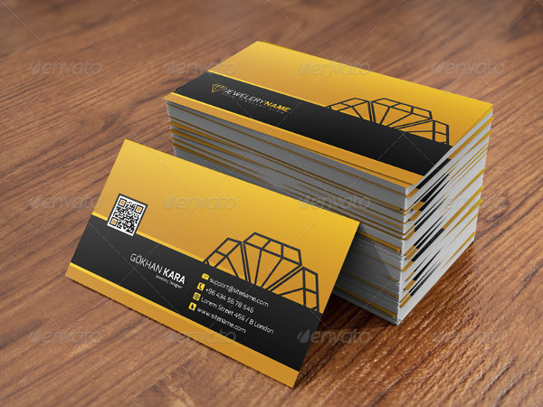 Sample Jewelry Business Cards Template