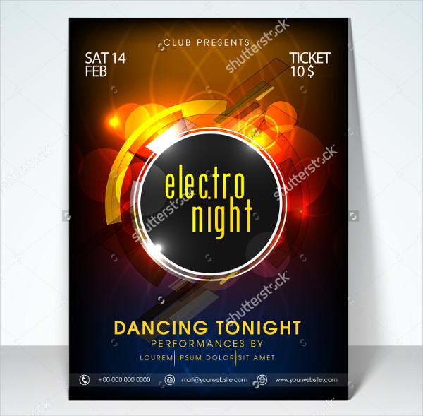 Electro Dance Night Party Flyer