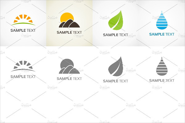 Set of Nature Logo Designs