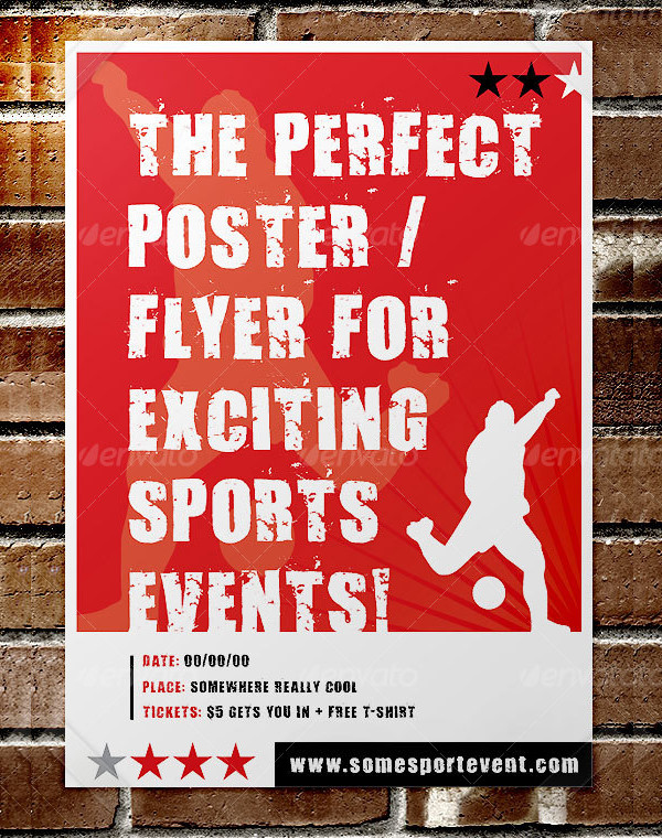 Perfect Sports Event Poster