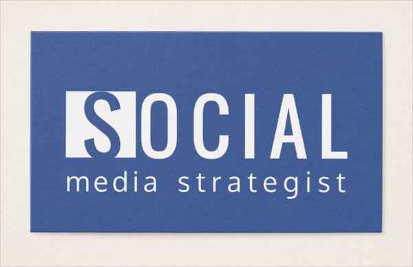 Facebook Strategist Business Card