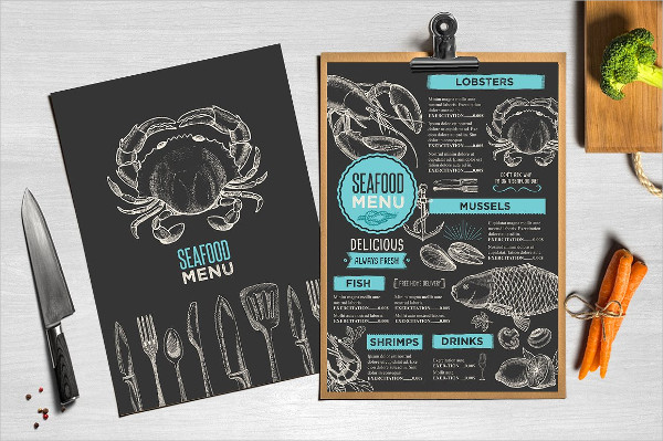 Blackboard Food Menu Template
