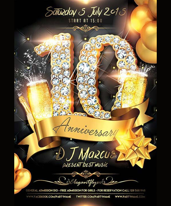 Free Anniversary Celebration Flyer Design