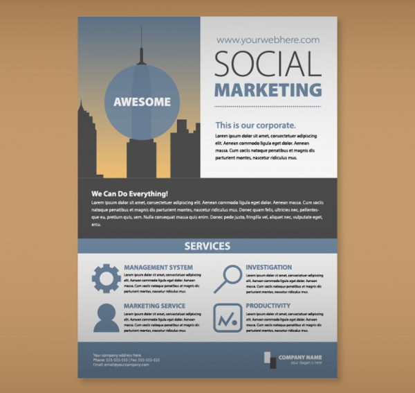 Free Social Marketing Flyer Template