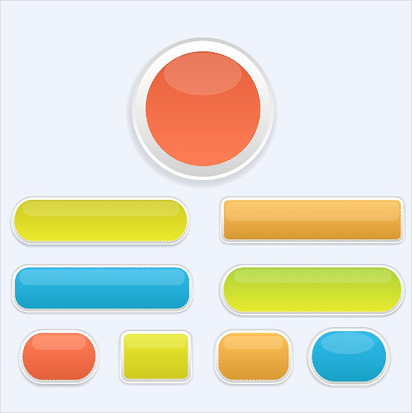 Glass Colored Buttons