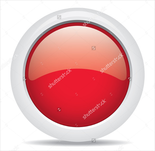 Graphic Popular Red Color 3D Button