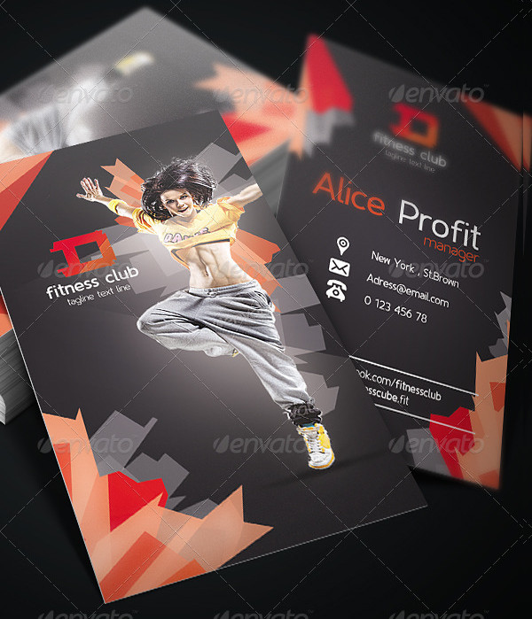 Fitness Club Business Card Templates