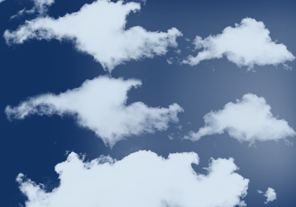 10 Cloud Brushes Photoshop High Resolution Free