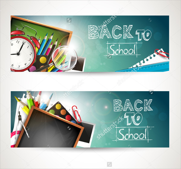2 Horizontal Education Banner Templates Set