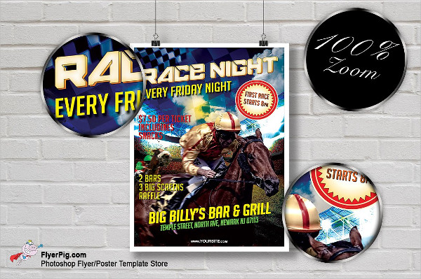 Horse Racing Night Flyer Template