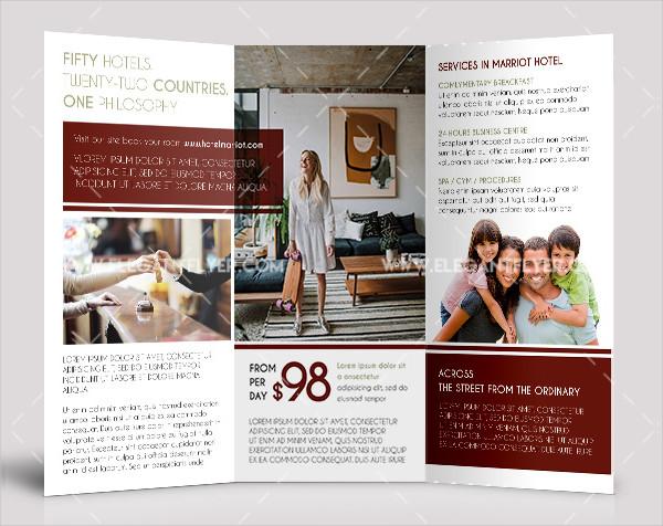 Hotel Free PSD Tri-Fold Brochure Design