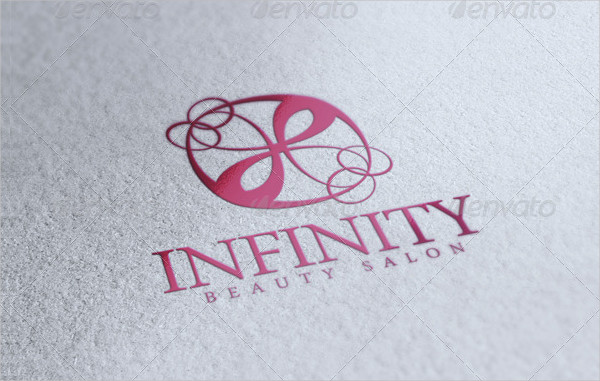 Infinity Beauty Salon Vector Logo Template