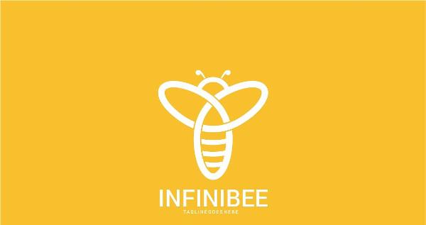 Infinity Bees Logo Template Design