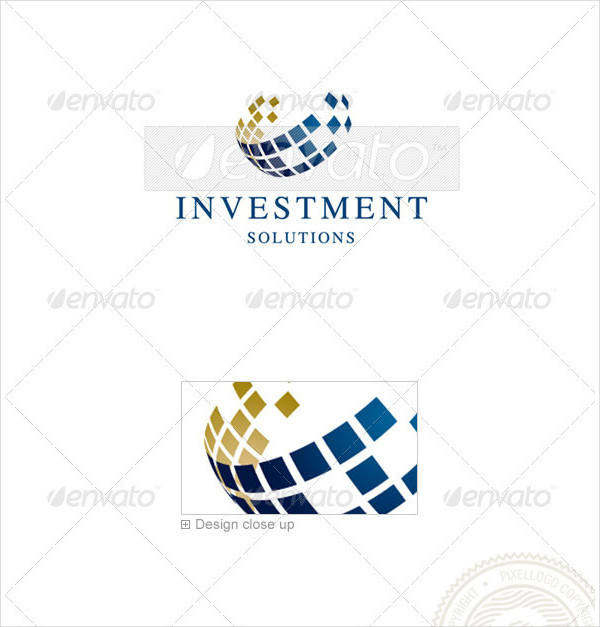 Investment Solutions Logo Template