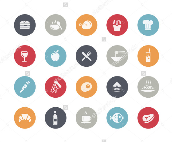 Classic Food Icon Set