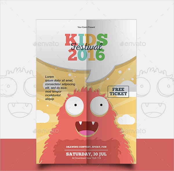 Kids Painting Festival Flyer Templates