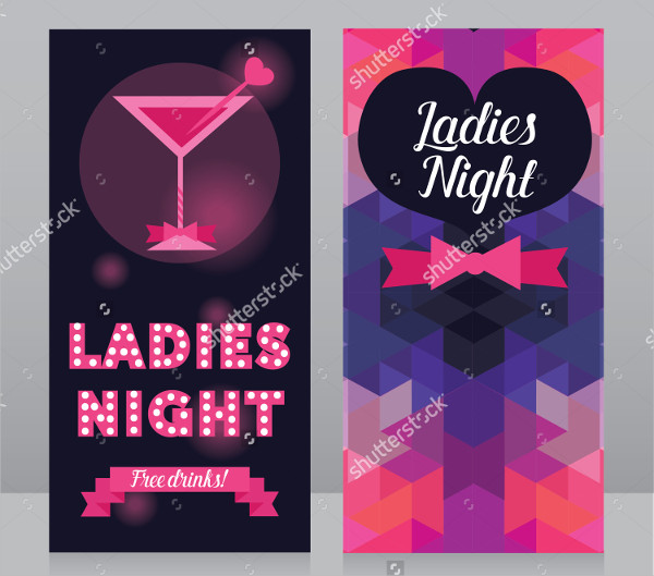 Ladies Night Party Invitation Flyer