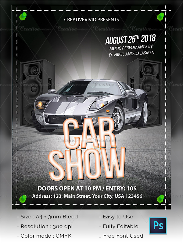Car Show Flyer Template Download