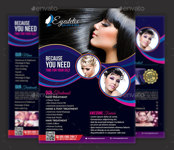 Latest Spa & Beauty Salon Flyers Template